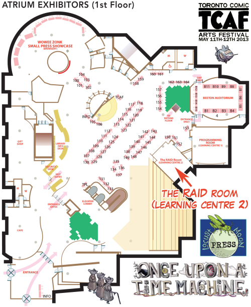 OUATM at TCAF map